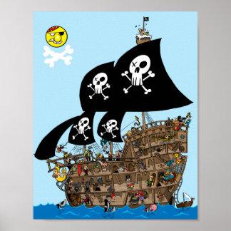 Pirate Ship Escape Posters