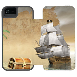 Pirate ship finding treasure - 3D render Incipio Watson™ iPhone 5 Wallet Case