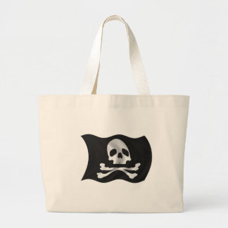 Pirate Ship Flag Canvas Bag