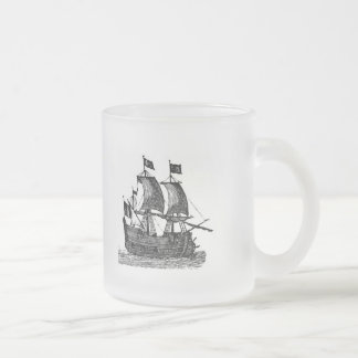 Pirate Ship Frosted Beer Mug
