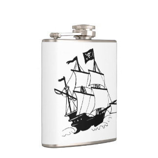 Pirate Ship Hip Flask