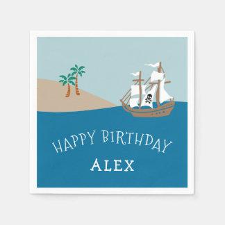Pirate Ship Kids Birthday Party Disposable Serviette