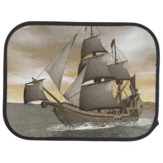Pirate ship leaving - 3D render Car Mat
