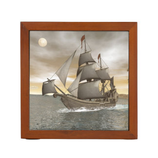 Pirate ship leaving - 3D render Desk Organiser