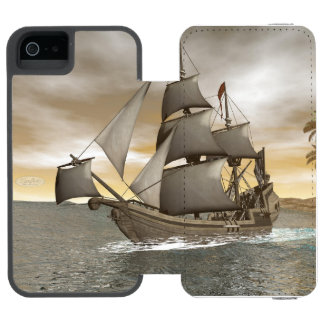 Pirate ship leaving - 3D render Incipio Watson™ iPhone 5 Wallet Case