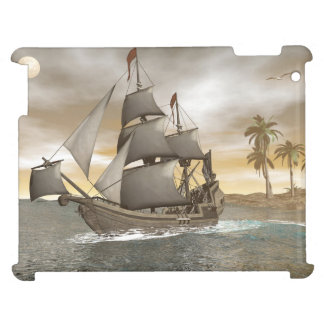 Pirate ship leaving - 3D render.j Cover For The iPad