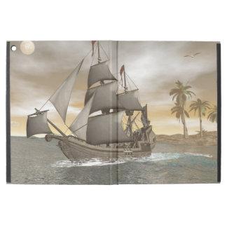 "Pirate ship leaving - 3D render.j iPad Pro 12.9"" Case"