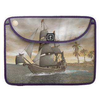 Pirate ship leaving - 3D render.j Sleeve For MacBooks