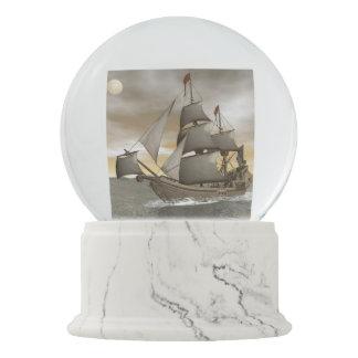Pirate ship leaving - 3D render Snow Globe