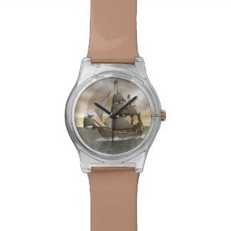 Pirate ship leaving - 3D render Wrist Watch