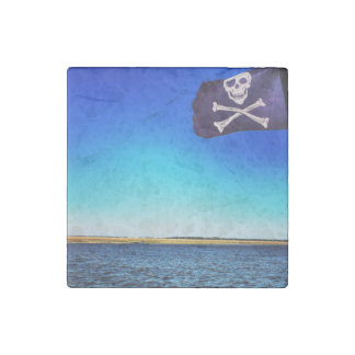 Pirate Ship Marble Magnet