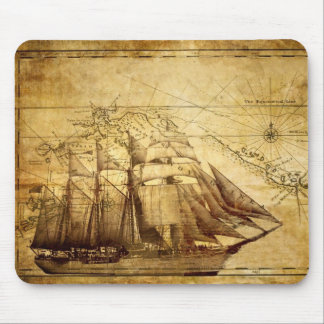 pirate ship mouse pad