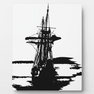 pirate ship plaque