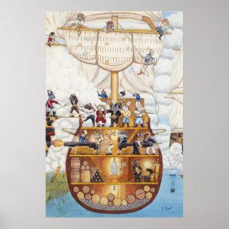 Pirate Ship Poster / Print