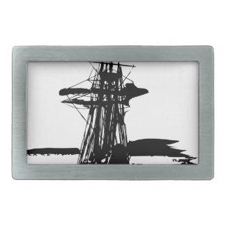pirate ship rectangular belt buckles