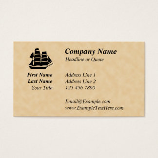 Pirate Ship. Sailing Ship. Business Card