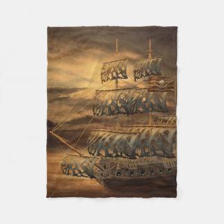 Pirate Ship Small Fleece Blanket