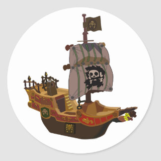 Pirate Ship Stickers
