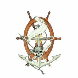 Pirate Sigil Photo Sculpture Key Ring