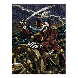 Pirate Skeleton Postcard