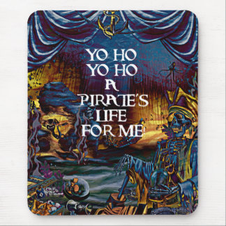 Pirate Skeleton Treasure Under the Sea Comic Art Mouse Pad