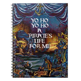 Pirate Skeleton Treasure Under the Sea Comic Art Notebook