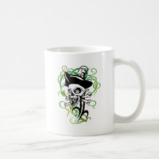 Pirate Skeleton Vampire Fangs Tattoo Style Artwork Coffee Mug