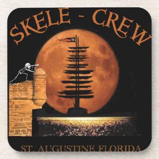 Pirate Skeletons in St. Augustine Fort Florida! Beverage Coasters