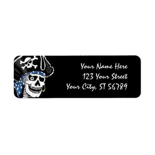 Pirate Skull Address Label