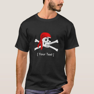 Pirate Skull and Bones Mens T-shirt Black