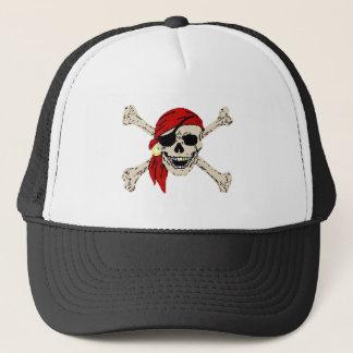 Pirate Skull and Bones Trucker Hat