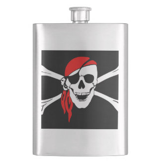 Pirate Skull and cross bones Flask