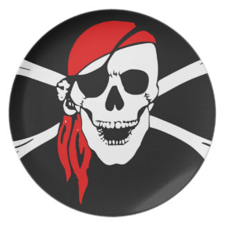 Pirate Skull and cross bones Party Plates