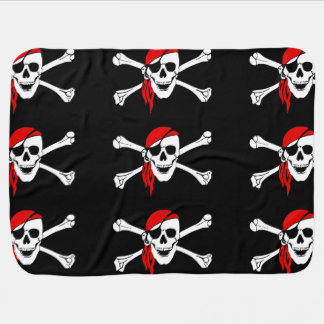 Pirate Skull and cross bones Swaddle Blankets
