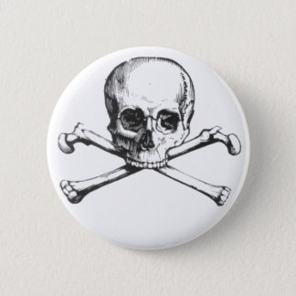 Pirate Skull and Crossbone 6 Cm Round Badge