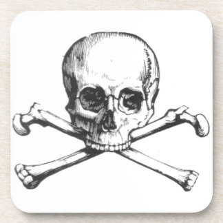 Pirate Skull and Crossbone Drink Coasters