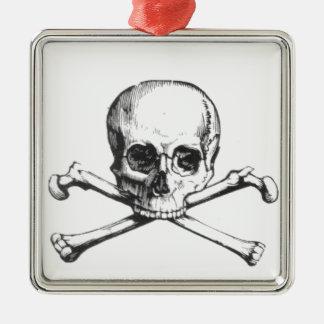 Pirate Skull and Crossbone Metal Ornament
