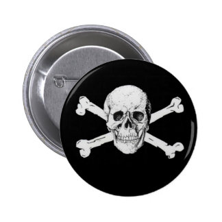 Pirate Skull and Crossbones 6 Cm Round Badge