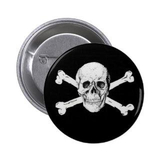 Pirate Skull and Crossbones 6 Cm Round Badge