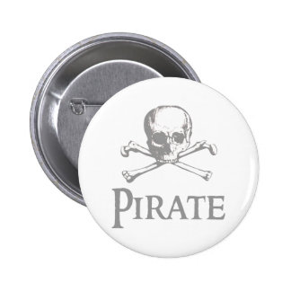 Pirate Skull and Crossbones Pinback Buttons