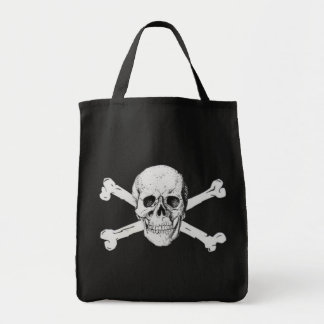 Pirate Skull and Crossbones Tote Bags