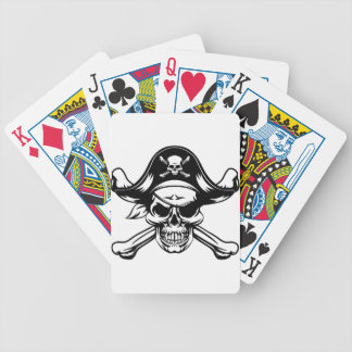Pirate Skull and Crossbones Bicycle Playing Cards