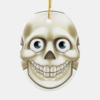 Pirate Skull and Crossbones Cartoon Ceramic Ornament