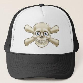 Pirate Skull and Crossbones Cartoon Trucker Hat