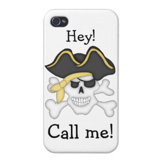 Pirate Skull and Crossbones-Humor iPhone 4/4S Case
