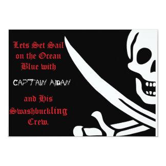Pirate Skull and crossbones invitaion Card