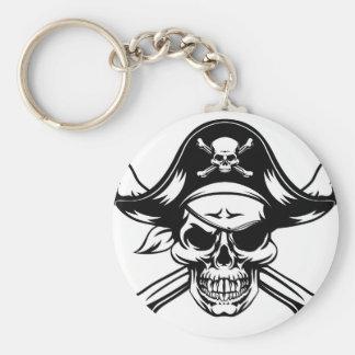 Pirate Skull and Crossbones Key Ring