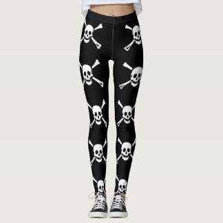 Pirate Skull and Crossbones Leggings