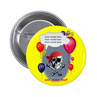 Pirate Skull and Crossbones party 6 Cm Round Badge