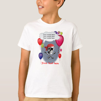 Pirate Skull and Crossbones party T-Shirt